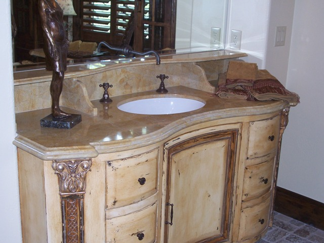 Custom Vanity & Shelf-Heyl Parade Home-Seven Oaks